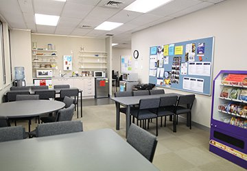 Student lounge and kitchen
